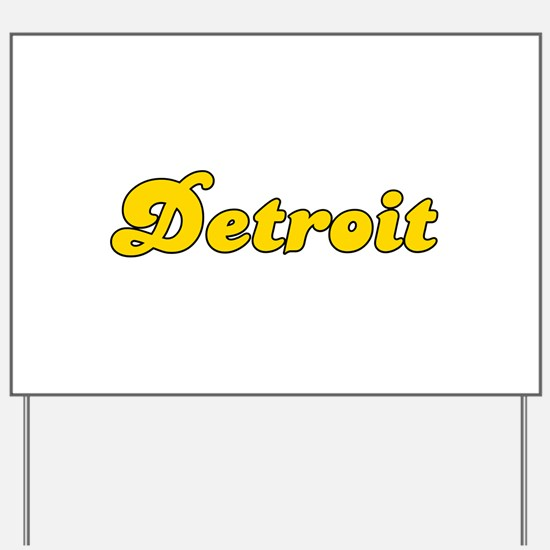 Retro Detroit (Gold) Yard Sign