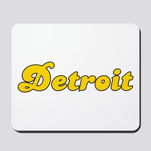 Retro Detroit (Gold) Mousepad