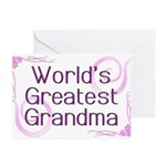World's Greatest Grandma Greeting Cards (Pk of 20)