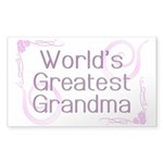 World's Greatest Grandma Sticker (Rectangle 50 pk)