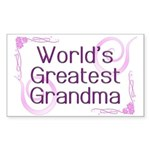 World's Greatest Grandma Rectangle Sticker 10 pk)