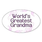 World's Greatest Grandma Sticker (Oval 50 pk)