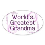 World's Greatest Grandma Sticker (Oval 10 pk)