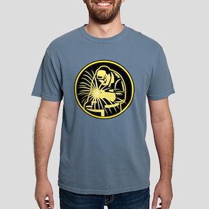 Welder With Welding Torch Visor Retro T-Shirt