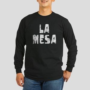 La Mesa Faded (Silver) Long Sleeve Dark T-Shirt