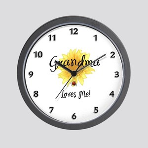 Grandma Loves Me Wall Clock