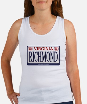 Richmond License Plate Women's Tank Top
