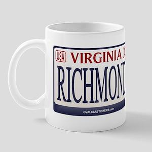Richmond License Plate Mug