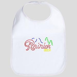 Rainier Beer neon sign 2 Baby Bib