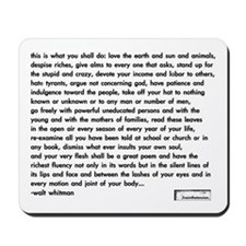 'walt whitman' computer mousepad