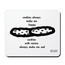 'cookies & raisins' computer mousepad