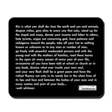 'walt whitman' mousepad (black)