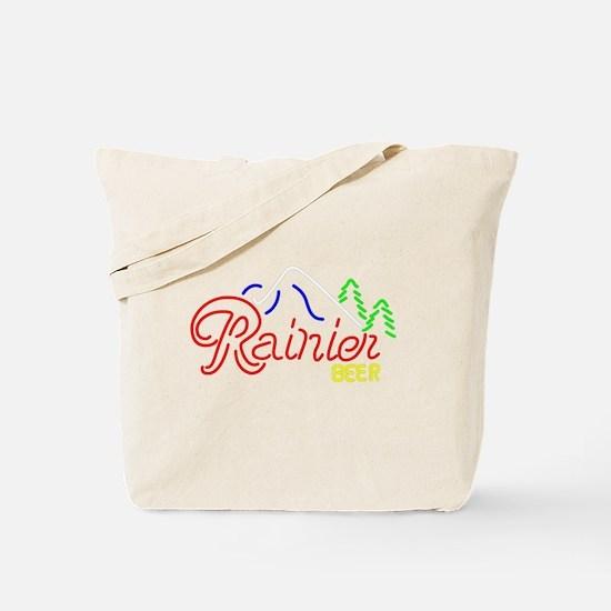 Rainier Beer neon sign 2 Tote Bag