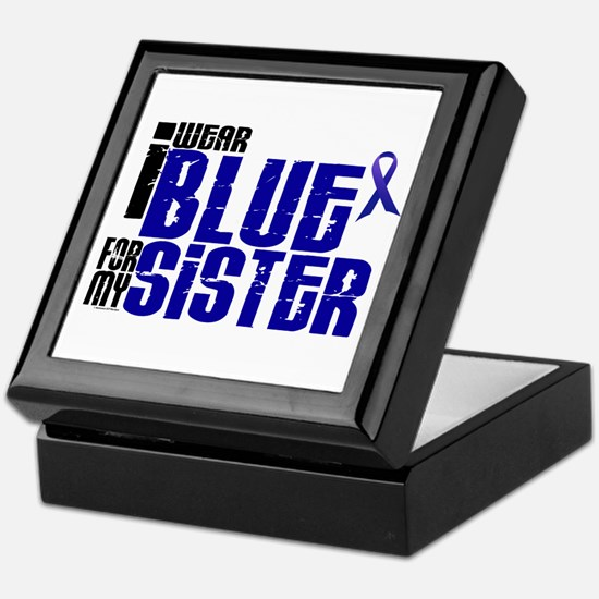 I Wear Blue For My Sister 6 Keepsake Box