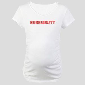 Retro Bubblebutt (Red) Maternity T-Shirt