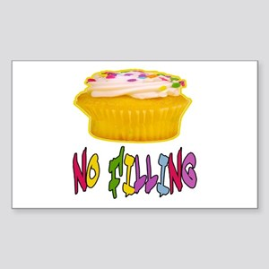 CUPCAKE NO FILLING-T-SHIRTS Rectangle Sticker