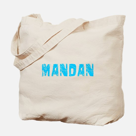 Mandan Faded (Blue) Tote Bag