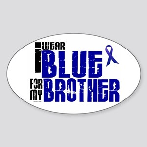 I Wear Blue For My Brother 6 Oval Sticker