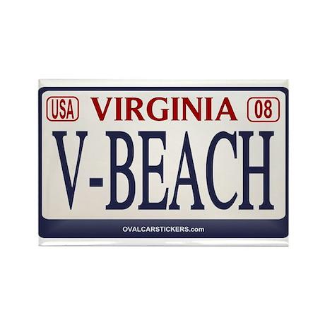 Virginia Beach License Plate Rectangle Magnet