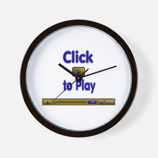 Click to Play Wall Clock