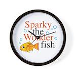 Sparky the Wonderfish Wall Clock