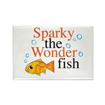 Sparky the Wonderfish Rectangle Magnet
