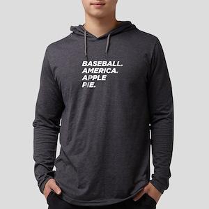 Baseball. America. Apple Pie. Long Sleeve T-Shirt
