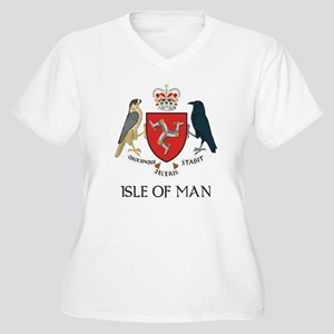 Isle of Man Coat of Arms Women's Plus Size V-Neck