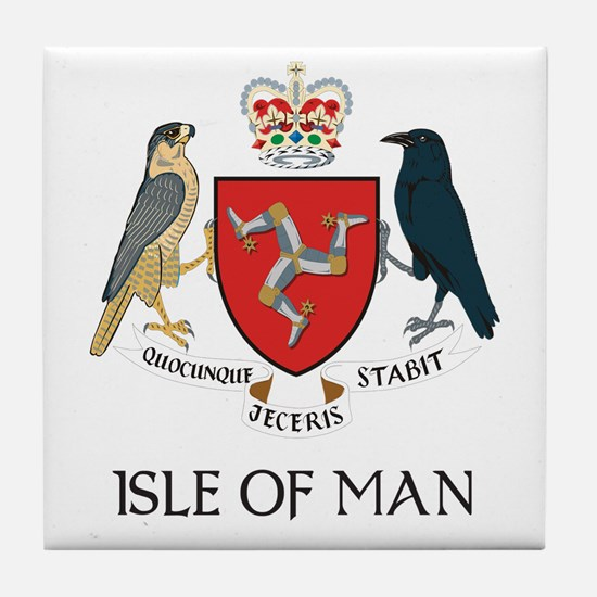 Isle of Man Coat of Arms Tile Coaster
