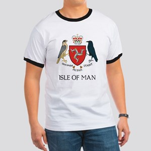 Isle of Man Coat of Arms Ringer T