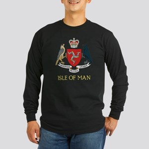 Isle of Man Coat of Arms Long Sleeve Dark T-Shirt
