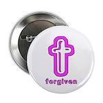 Forgiven Cross Christian Button