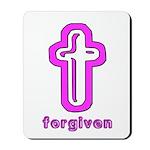Forgiven Cross Christian Mousepad