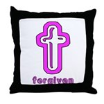 Forgiven Cross Christian Throw Pillow