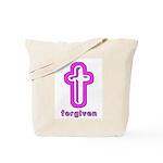 Forgiven Cross Christian Tote Bag
