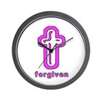 Forgiven Cross Christian Wall Clock