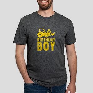 Birthday Boy Yellow Tractor Bulldozer Cons T-Shirt