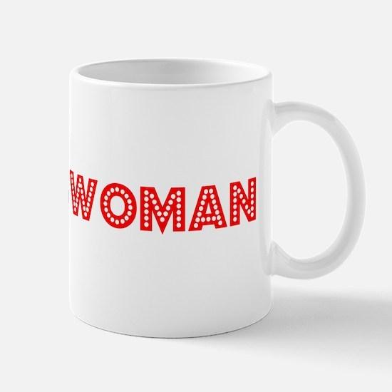 Retro Businesswoman (Red) Mug