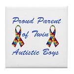Autistic Twins Tile Coaster