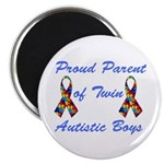 """Autistic Twins 2.25"""" Magnet (100 pack)"""