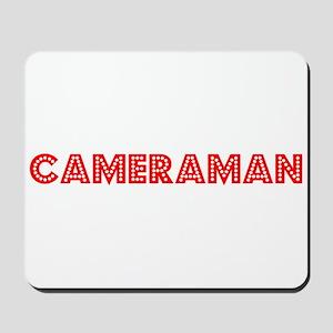 Retro Cameraman (Red) Mousepad
