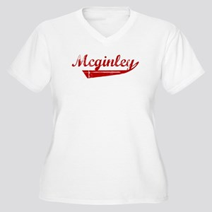 Mcginley (red vintage) Women's Plus Size V-Neck T-