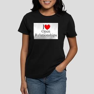 """I Love (Heart) Open Relationships"" T-Shirt"