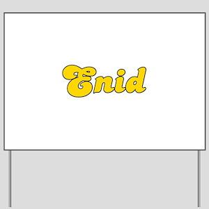 Retro Enid (Gold) Yard Sign