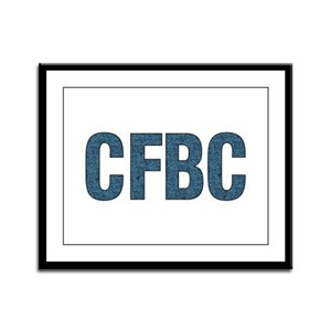CFBC Blue Logo Framed Panel Print