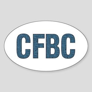 CFBC Blue Logo Oval Sticker