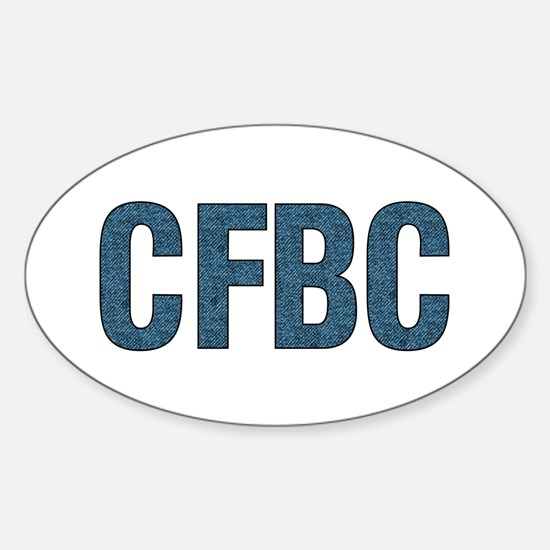 CFBC Blue Logo Oval Decal