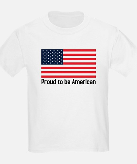 Proud to be American (flag)  Kids T-Shirt