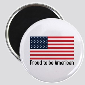 Proud to be American (flag) Magnet