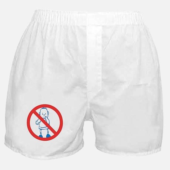 No Kids Allowed Boxer Shorts